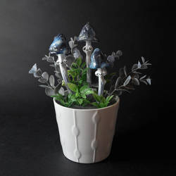 Galaxy Shrooms Miniature OOAK by falauke