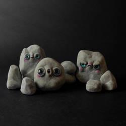 Pet Rock Figurines by falauke