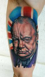 Winston Churchill by tat2istcecil