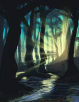 Swamp speed painting by Rynnay