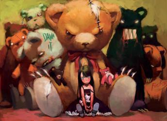 bear girl by cuson