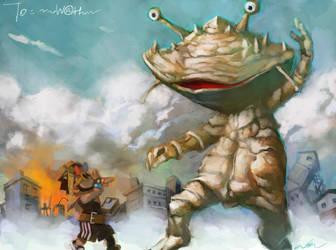 siu kong fight monster by cuson