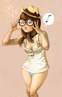 glasses girl by cuson