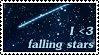 I Love Falling Stars Stamp by HeruNoTenchi