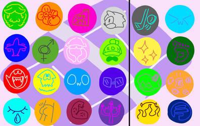 Splatoon Tennis Tournament Icons + Unlockables by DanielGreenInkling