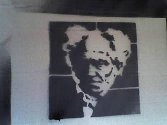 schopenhauer stencil by diezerodie
