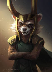 Rocket Raccoon by GothicQ