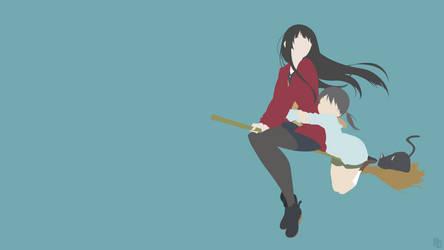 Makoto + Chinatsu (Flying Witch) by ncoll36