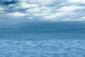 Ocean Landscape in Blues Stock Photo by annamae22