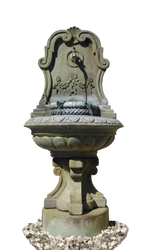 Stone Fountain Stock Photo 0104 - PNG by annamae22