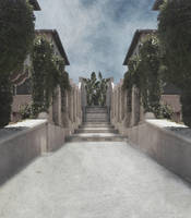 Villa Entrance Stock 0073-Premade Background by annamae22