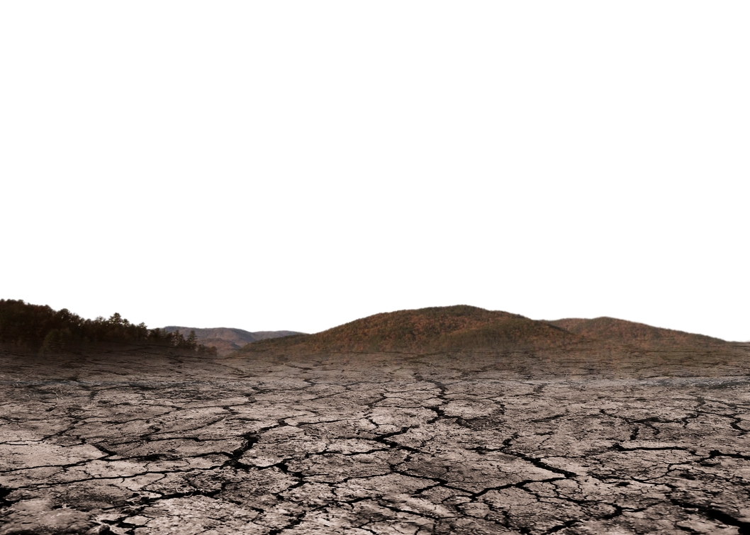 Mountain cracked Earth NO Sky -Brown Stock PNG by annamae22