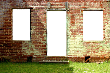 Abandoned Building 2 Stock Photo-Door -Windows Doo by annamae22