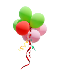 Ballon with Ribbons PNG Stock Photo 0189 by annamae22