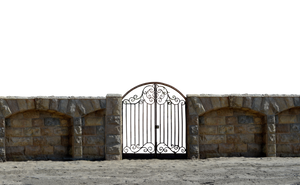 Iron Stone Gate at Beach PNG Stock Photo 0073 by annamae22