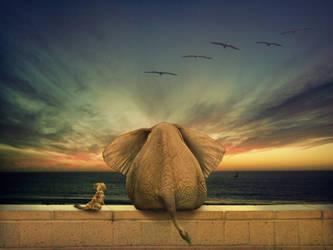 Annie and the Elephant by annamae22