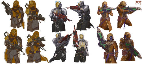 Destiny Characters by TheGreaterDesign