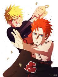 Naruto vs. Pain by yopakfu