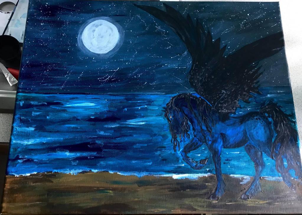 Night Pegasus  by Keyrye