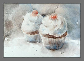 Cupcakes by cmwatercolors