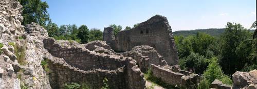 Castle Ruin Panorama by Pygar-Art
