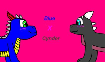Blue and Cynder by Aqua12345