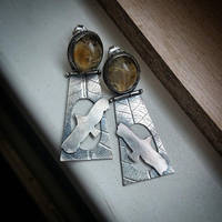 earrings silver sterling with citrine by honeypunk