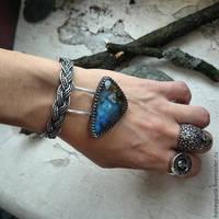 bracelet silver sterling with labradorite by honeypunk