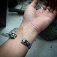 bracelet silver sterling with labradorite back sid by honeypunk