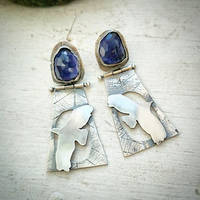 earrings silver sterling with iolite by honeypunk