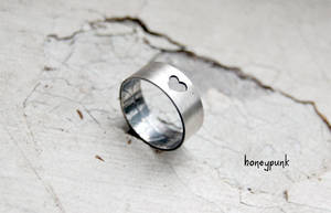 sterling silver ring with leaf texture by honeypunk