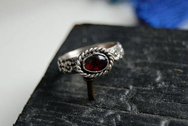 ring with garnet by honeypunk