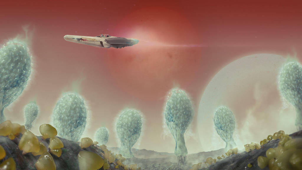 MATTE-PAINTING-fungi-planet by anowak