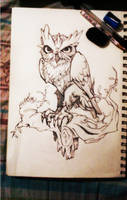Owl tattoo design by Fabian-Alvarez-Sosa