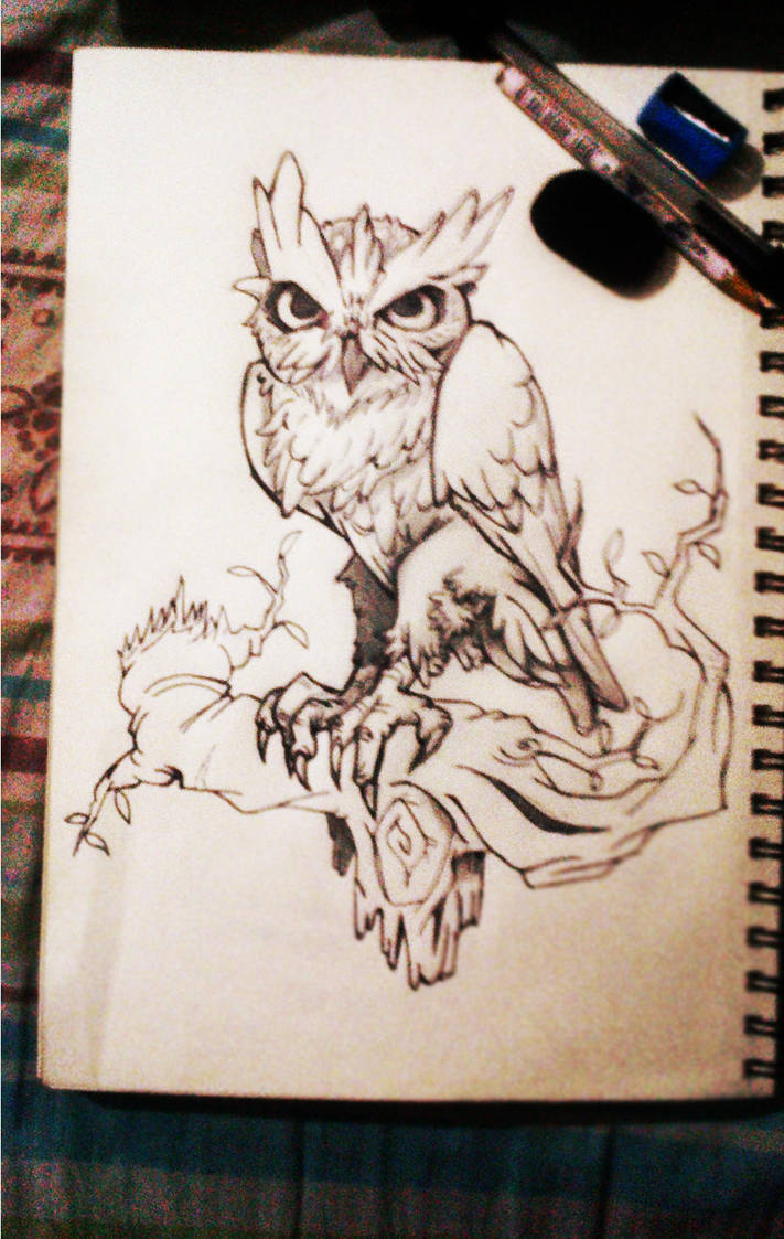 Owl Tattoo Design By Fabian Alvarez Sosa On Deviantart