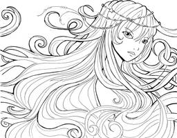 Water soul lineart by Namtia