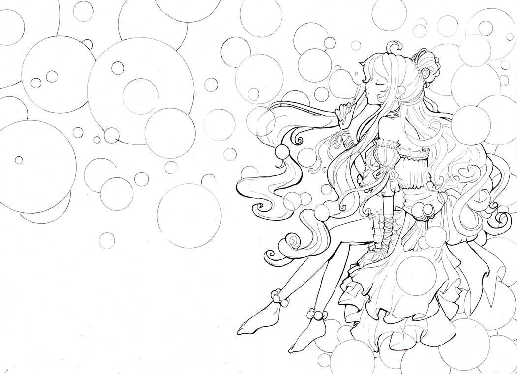 Bubble princess line by Namtia