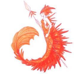 Crocoite mermaid by Namtia