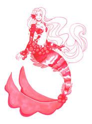 Rhodocrosite mermaid by Namtia