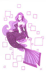 Fluorite mermaid by Namtia