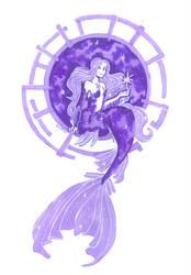 Galaxy/star mermaid by Namtia