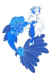 Azurite rose mermaid by Namtia