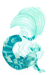 Malachite mermaid by Namtia