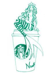 Starbucks mermaid by Namtia
