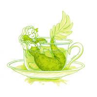 Green Tea Mermaid by Namtia