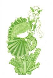 Tourmaline (Verdelite) mermaid by Namtia
