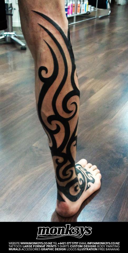 Maori Tribal Leg 2 By Monk3ys Tattoos On Deviantart