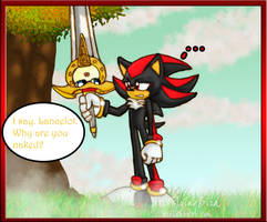 Shadow meets the talking sword by FreeFlyingBird