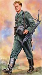 WW2 German Machine Gunner by sandu61