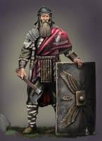 Roman veteran in Dacia by sandu61